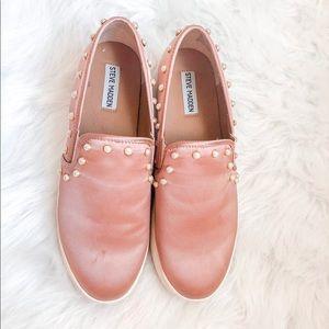 Loafers Blush Pink Steve Madden Pearl details